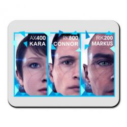 Килимок для миші The faces of androids game Detroit: Become human