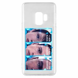 Чохол для Samsung S9 The faces of androids game Detroit: Become human