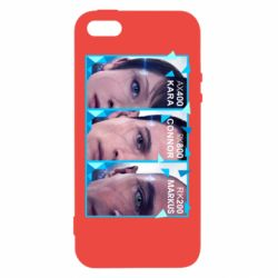 Чохол для iphone 5/5S/SE The faces of androids game Detroit: Become human