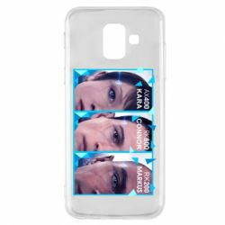 Чохол для Samsung A6 2018 The faces of androids game Detroit: Become human
