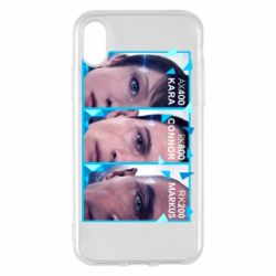 Чохол для iPhone X/Xs The faces of androids game Detroit: Become human