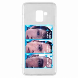 Чохол для Samsung A8+ 2018 The faces of androids game Detroit: Become human
