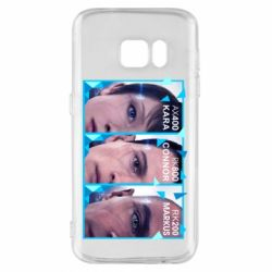 Чохол для Samsung S7 The faces of androids game Detroit: Become human