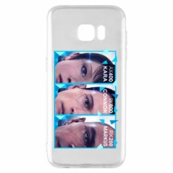 Чохол для Samsung S7 EDGE The faces of androids game Detroit: Become human