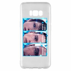Чохол для Samsung S8+ The faces of androids game Detroit: Become human
