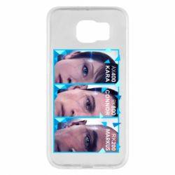 Чохол для Samsung S6 The faces of androids game Detroit: Become human