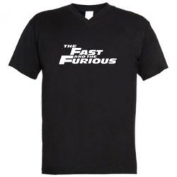 Мужская футболка  с V-образным вырезом The Fast and the Furious