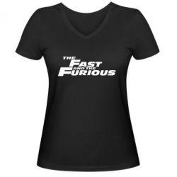 Женская футболка с V-образным вырезом The Fast and the Furious