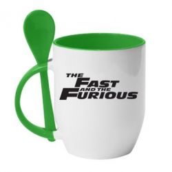 Кружка з керамічною ложкою The Fast and the Furious