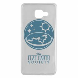 Чехол для Samsung A7 2016 The flat earth society