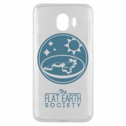 Чехол для Samsung J4 The flat earth society