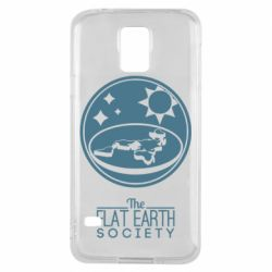 Чехол для Samsung S5 The flat earth society