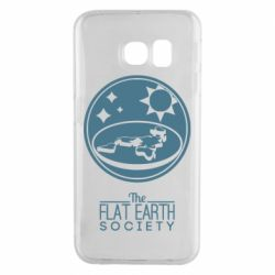 Чехол для Samsung S6 EDGE The flat earth society