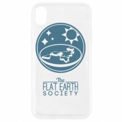 Чехол для iPhone XR The flat earth society