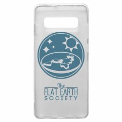 Чехол для Samsung S10+ The flat earth society