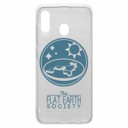 Чехол для Samsung A20 The flat earth society