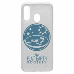Чехол для Samsung A40 The flat earth society