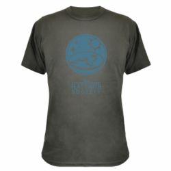 Камуфляжна футболка The flat earth society