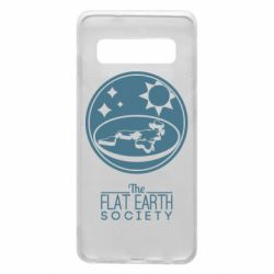 Чехол для Samsung S10 The flat earth society