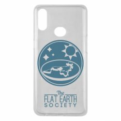 Чехол для Samsung A10s The flat earth society