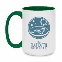 Кружка двоколірна 420ml The flat earth society