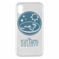 Чехол для iPhone X/Xs The flat earth society