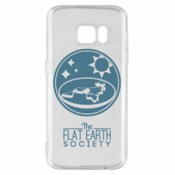 Чехол для Samsung S7 The flat earth society