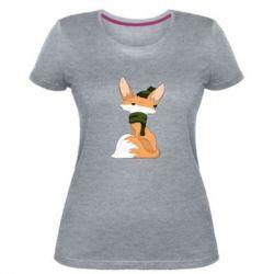 Жіноча стрейчева футболка The Fox in the Hat