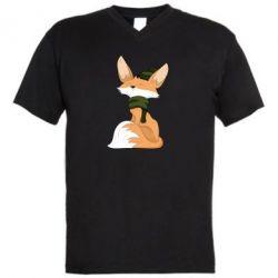 Чоловіча футболка з V-подібним вирізом The Fox in the Hat