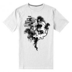 Мужская стрейчевая футболка The ghost outside the machine