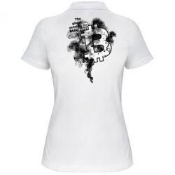 Купить Женская футболка поло The ghost outside the machine, FatLine