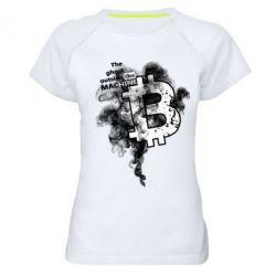 Купить Женская спортивная футболка The ghost outside the machine, FatLine
