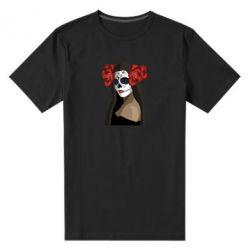 Мужская стрейчевая футболка The girl in the image of the day of the dead