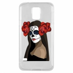 Чохол для Samsung S5 The girl in the image of the day of the dead