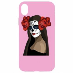 Чохол для iPhone XR The girl in the image of the day of the dead
