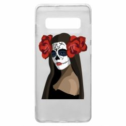Чохол для Samsung S10+ The girl in the image of the day of the dead