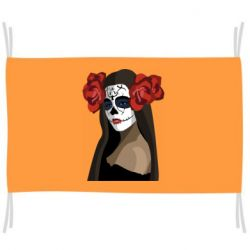 Прапор The girl in the image of the day of the dead