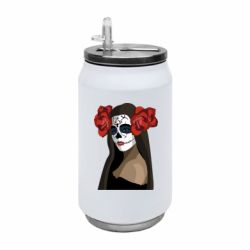 Термобанка 350ml The girl in the image of the day of the dead