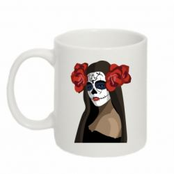 Кружка 320ml The girl in the image of the day of the dead