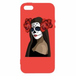 Чохол для iphone 5/5S/SE The girl in the image of the day of the dead