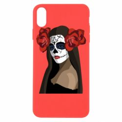 Чохол для iPhone X/Xs The girl in the image of the day of the dead