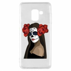 Чохол для Samsung A8 2018 The girl in the image of the day of the dead