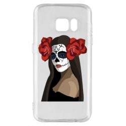 Чохол для Samsung S7 The girl in the image of the day of the dead
