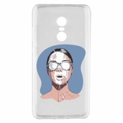 Чехол для Xiaomi Redmi Note 4 The girl is doused with milk
