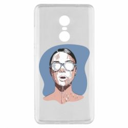Чехол для Xiaomi Redmi Note 4x The girl is doused with milk
