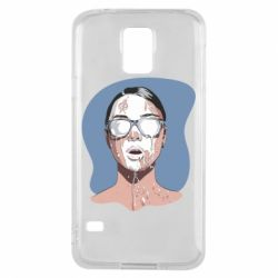 Чохол для Samsung S5 The girl is doused with milk