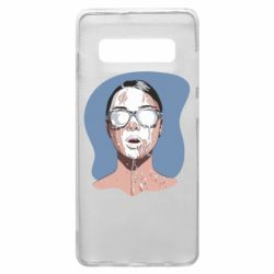 Чохол для Samsung S10+ The girl is doused with milk