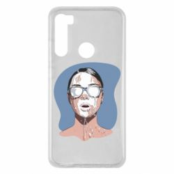 Чехол для Xiaomi Redmi Note 8 The girl is doused with milk