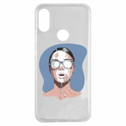 Чехол для Xiaomi Redmi Note 7 The girl is doused with milk