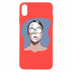 Чохол для iPhone X/Xs The girl is doused with milk